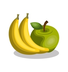 Banana and apple fresh vector