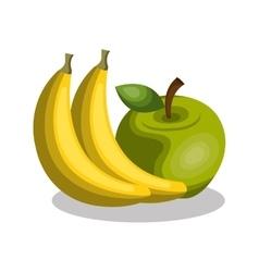 banana and apple fresh vector image