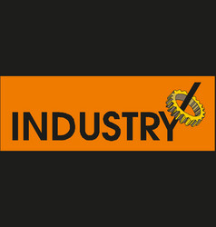 banner industry eps 10 vector image