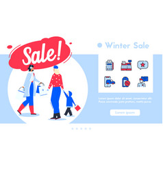 banner shopping on winter vector image
