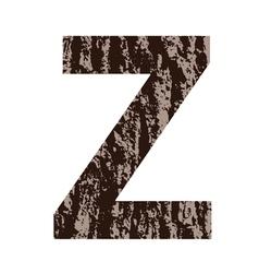 Bark letter Z vector