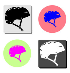 bicycle helmet flat icon vector image