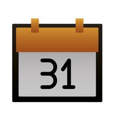 calendar reminder on white background vector image