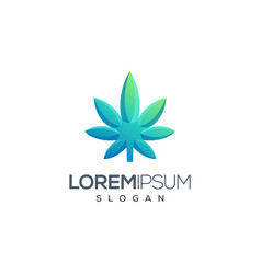 cannabis logo design vector image
