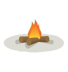 Cartoon campfire vector