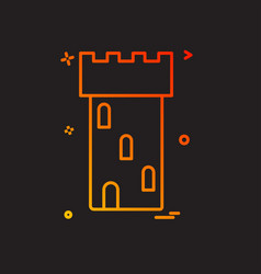 castle icon design vector image