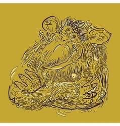 Chimp vector image