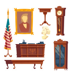 Collection - white house oval office vector