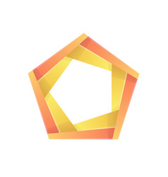 colorful pentagon abstract icon template vector image