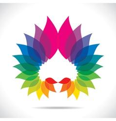 Creative colorful leaf icon vector