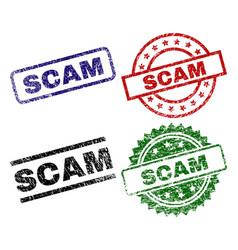 damaged textured scam stamp seals vector image