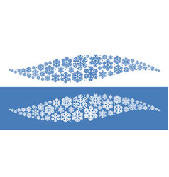 decorative snowflakes element christmas vector image