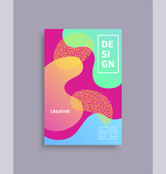 Design creative cover text vector