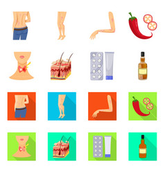 Design medical and pain sign collection vector