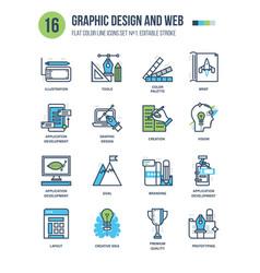 Design web development prototyping creation vector