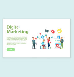 digital marketing internet business online page vector image