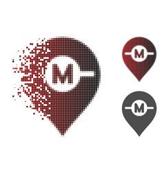 Dispersed pixel halftone motor marker icon vector