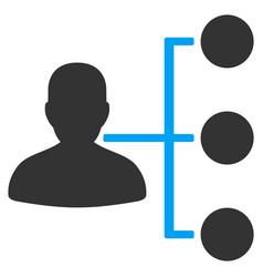 Distributor flat icon vector