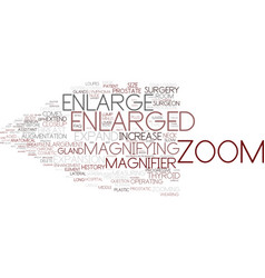 Enlarged word cloud concept vector