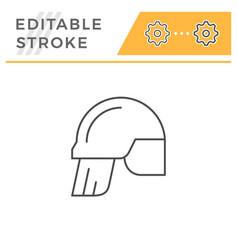 fireman helmet line icon vector image