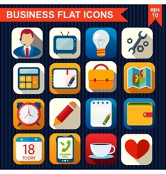 Flat icons for Web and Mobile App vector