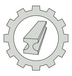 Flat metal industry icon vector