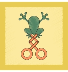 flat shading style icon Kids frog vector image