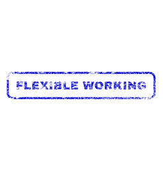 Flexible working rubber stamp vector