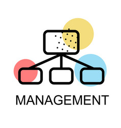 Flow chart icon for management on white background vector