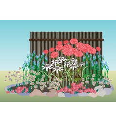 flower bed vector image vector image
