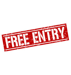 free entry square grunge stamp vector image