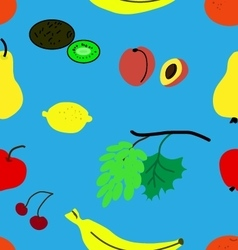 Funny fruit pattern vector image