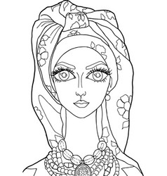 girl 1 drawing coloring book vector image