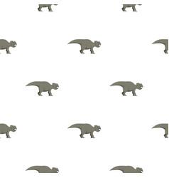Grey ceratopsians dinosaur pattern seamless vector