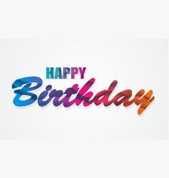 Happy birthday card rainbow waves design vector