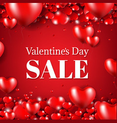 happy valentines day sale poster vector image