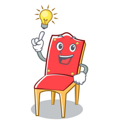 Have an idea chair character cartoon collection vector