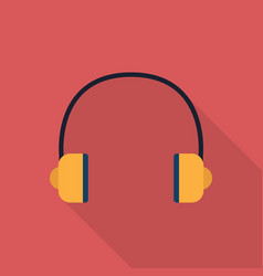 headset icon set of great flat icons with style vector image