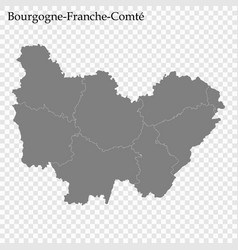 High quality map region france vector