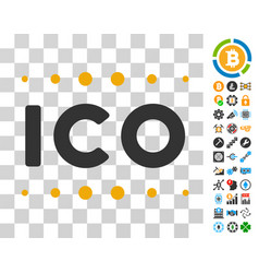 Ico caption icon with bonus vector