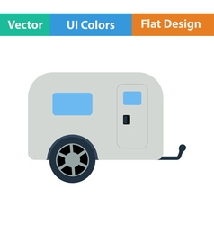 Icon of camping family caravan car vector image