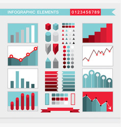 infographic elements charts graph diagram vector image