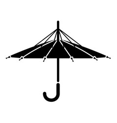 Inside out umbrella icon simple style vector