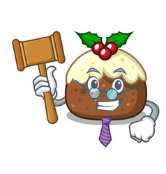 judge fruit cake mascot cartoon vector image