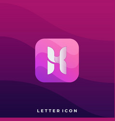 letter icon application design template vector image