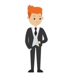 man formal suit icon vector image
