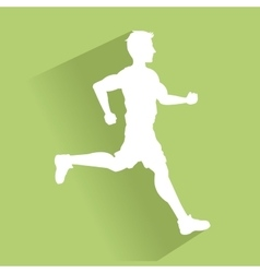 Man running of Healthy lifestyle design vector