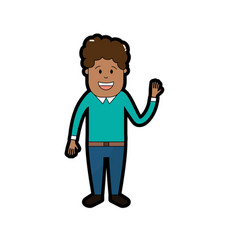 man with hairstyle design and clothes vector image