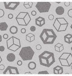 Memphis style seamless pattern vector