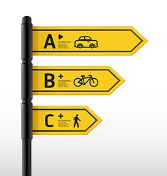 Modern road sign Design template vector